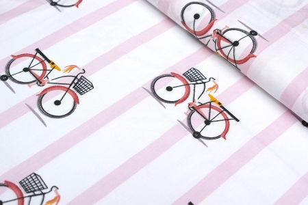 TKANINA BAWEŁNIANA BICYCLES