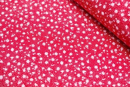PŁÓTNO BAWEŁNIANE DELICATE FLOWERS RED