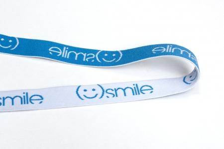 TAŚMA GUMOWA SMILE BLUE