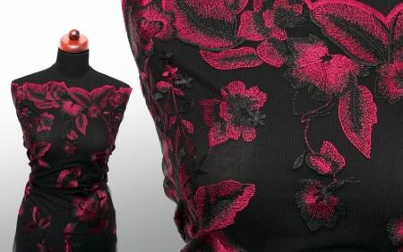 KORONKA GIPIUROWA DARK RED FLOWERS