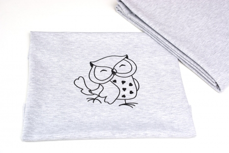 DZIANINA DRESOWA OWL LIGHT GREY PANEL