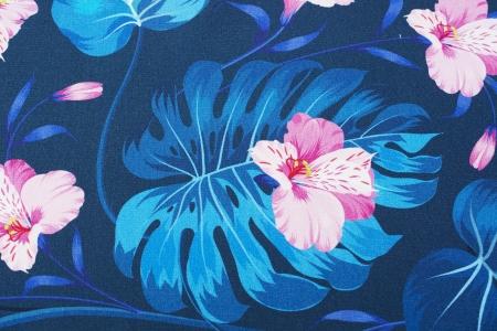 DRESÓWKA VIVID BLUE & PINK LEAVES