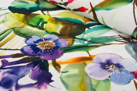 TKANINA DEKORACYJNA PAINTING FLOWERS