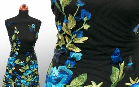 KORONKA GIPIUROWA PRINCESS BLUE FLOWERS