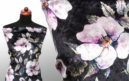 DZIANINA WELWET ORCHID TINT FLOWERS